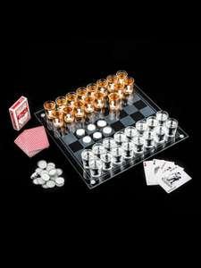 Шахматы со стопками + шашки + карты (ЭВРИКА)