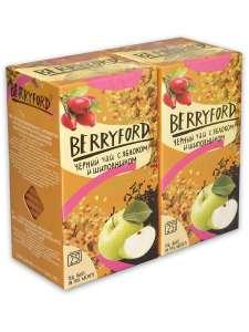 Чай Berryford Черный c яблоком и шиповником 50 пак по 1,75 гр (2 пачки)