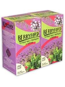 Чай Berryford Черный с чабрецом и мятой 50 пак по 1,75 гр (2 пачки)