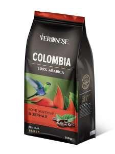 Кофе в зернах Colombia, 200 г, Veronese (арабика 100%)