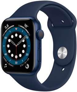 Смарт-часы Apple Watch Series 6 GPS 44мм корпус из алюминия синий + ремешок синий (M00J3RU/A)