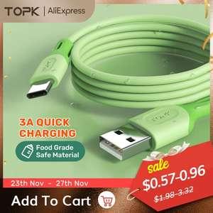 Кабель TOPK Micro USB Type C (54₽ для золотого статуса и 36₽ для бриллиантового)