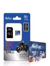 Карта памяти Netac microSD 64 Gb
