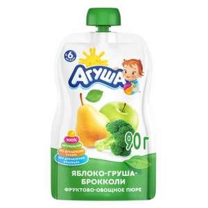 -30% на продукцию Агуша (напр. Пюре Агуша яблоко-груша-брокколи 90г)