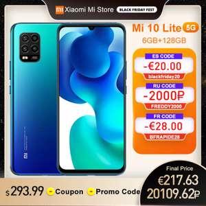 Смартфон Xiaomi Mi 10 Lite 5G 6 ГБ 128 Гб