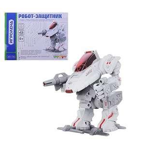 "Конструктор робототехника ""Робот-защитник"", движение, 2ААА, пластик, 20х15х6см"