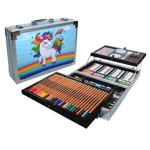 Набор для рисования и творчества с профессиональными компонентами, подарок для мальчика и девочки