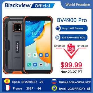 Смартфон Blackview BV4900pro 4+64 Гб Android 10 NFC