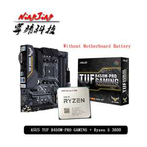Выгодный комплект MB ASUS TUF B450M-PRO GAMING + Процессор AMD Ryzen 5 3600