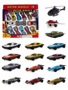 Детский набор металлический машинок Serinity Toys , 15шт
