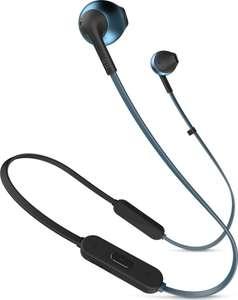 Bluetooth-наушники JBL T205BT, синий (JBL Pure Bass, 6 часов)