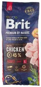 Корм для собак Brit Premium by Nature, курица 15 кг