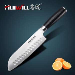 Японский нож Santoku из нержавеющей стали марки HUIWILL, 7 дюймов сталь AUS8