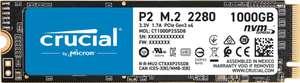 Crucial P2 SSD 1 TB, M.2 2280 PCI Express 3.0 x4 (NVMe)