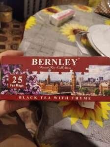 Чай черный Bernley с чабрацом в сети магазинов real