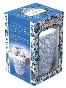 Подарочная керамическая чайница Цветы TEABREEZ Чай Земляника со сливками, 100г