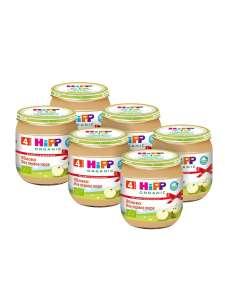 Пюре Hipp яблоко с 4 мес., 100 г (6 штук)