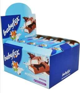 Шоколад молочный батончик BabyFox 20 штук