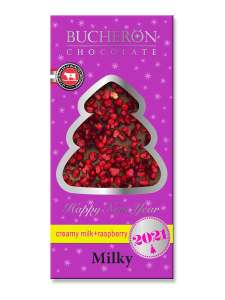 Шоколад молочный с кусочками малины Bucheron 100 г