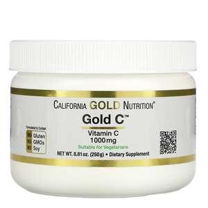 Скидка 30% на витамин С, напр, California Gold Nutrition, Gold C Powder, 250 гр.
