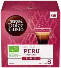 Кофе молотый в капсулах NESCAFE Dolce Gusto Espresso Peru, 12кап