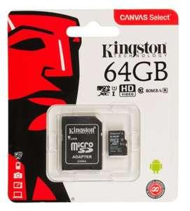 [Уфа] Карта памяти Kingston microSDXC UHS-I 64GB Class 10 с адаптером