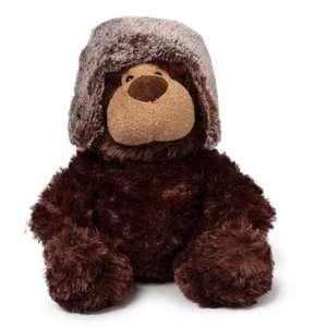 Скидка на мягкие игрушки (например, Медведь Aurora в шапке)