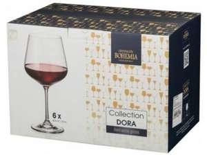 Набор бокалов для красного вина CRYSTALITE BOHEMIA Дора 600мл 1SF73/600, Чехия, 6 шт