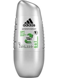 Роликовый антиперспирант Adidas Cool&Dry, 6 in 1, 50 мл