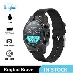 Смарт-часы Rogbid Brave, 4G, LTE, GPS, 3 + 32 ГБ