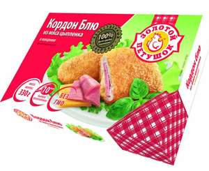 Кордон Блю из мяса цыпленка в панир. сыр/ветчина 330г.