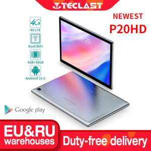 "Планшет Teclast P20HD 10,1"", FullHD, Android 10, LTE, 4+64 Gb"