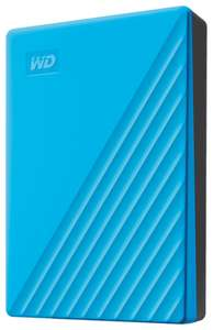 Внешний HDD Western Digital My Passport 2 ТБ голубой