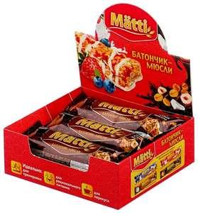 Злаковый батончик Matti Энергия злаков в шоколадной глазури, 6 шт