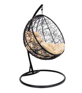 Подвесное кресло садовое 75х100х195 см, М-ГРУПП Круглое ротанг