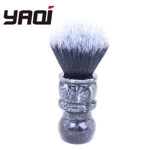 Кисточка для бритья Yaqi из синтетических волос с мраморной поверхностью