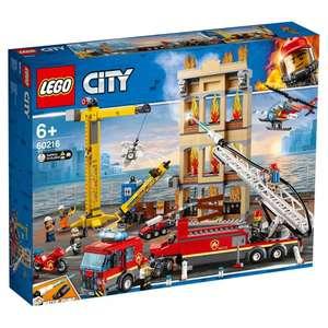 Lego конструктор City 60216 центральная пожарная станция (3048₽ с монетами)