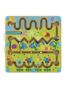 LUCY&LEO Лабиринт Магнитный Цветы - головоломка
