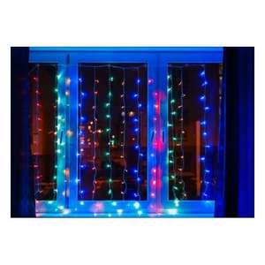 """Светодиодная гирлянда NEON-NIGHT """"Дождь"""" 1.5х1 м, 8 режимов, 96 разноцветных светодиодов, прозрачный провод"""