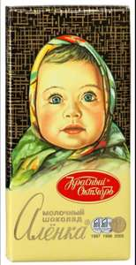 [Мск] Шоколад Аленка молочный Красный Октябрь 100г