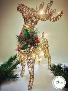 """""""Новогодний светящийся светодиодный олень"""", 53 см, TIKO"""