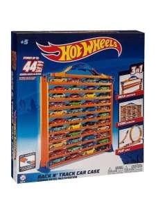Портативный кейс-автотрек (конструктор) Hot Wheels, для хранения игрушечных машинок