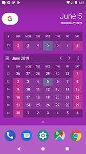Виджет календаря (постоянная лицензия)