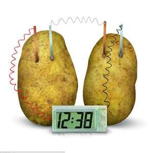 Часы с картофельным питанием