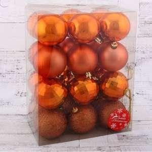Набор ёлочных шариков 6 см., 24шт