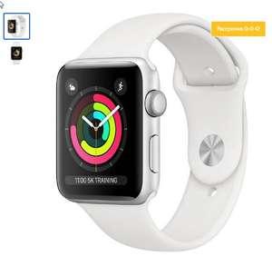 Умные часы Apple Watch Series 3, 38 мм, серебристый (MTEY2RU/A)