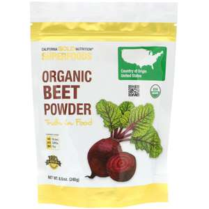 SuperFoods органический порошок из свёклы California Gold Nutrition 240 г