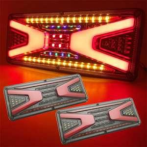 Водонепроницаемые задние фонари для прицепа, грузовика, 46 светодиодов