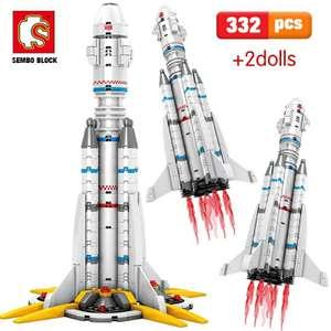 Конструктор SEMBO ракета 332 детали