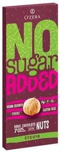 Горький шоколад OZera No sugar added Dark&Nuts, 90 г (без сахара)